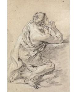 Francois Boucher, Studie eines knienden Mannes mit gefalteten Händen