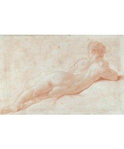 Francois Boucher, Rückenakt einer liegenden Frau