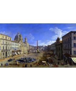 Giovanni Antonio Canaletto, Roma, vista de la Piazza Navona