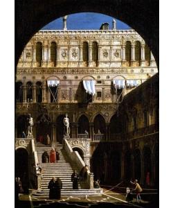 Giovanni Antonio Canaletto, Escalera de los Gigantes en el Palacio Duca