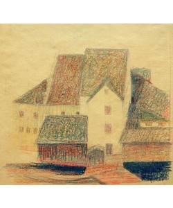Egon Schiele, Häusergruppe um die Stadtmühle