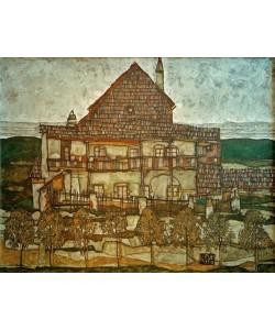 Egon Schiele, Haus mit Schindeldach