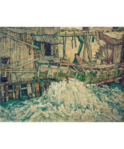 Egon Schiele, Zerfallende Mühle
