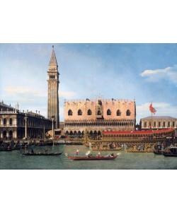 Giovanni Antonio Canaletto, The Bucintoro at the Molo on Ascension Day