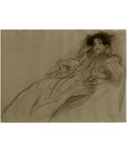 Gustav Klimt, Junge Dame im Sessel