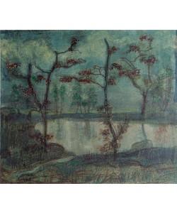Paul Klee, Herbstlandschaft mit See und Bäumen