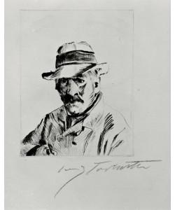Lovis Corinth, Selbstbildnis mit Strohhut