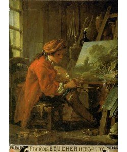 Francois Boucher, Der Maler in seiner Werkstatt