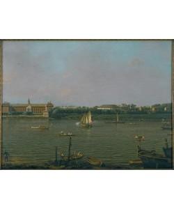 Giovanni Antonio Canaletto, Die Themse mit Chelsea College, Rotunde, und Ranelagh House
