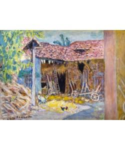 Pierre Bonnard, Innenhof eines Bauernhofs oder Die Scheune