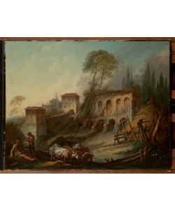 Francois Boucher, Imaginäre Landschaft mit dem Palatin vom Campo Vaccino
