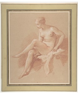 Francois Boucher, Seated female nude