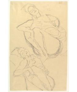 Gustav Klimt, Two Studies for a Crouching Woman
