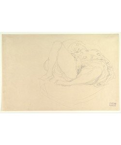 Gustav Klimt, Reclining Nude with Drapery