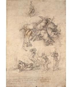 Michelangelo  Buonarroti, The Fall of Phaeton