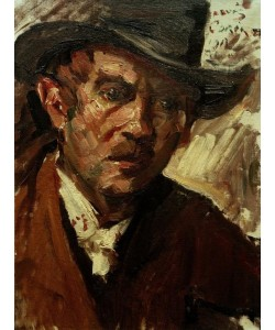 Lovis Corinth, Selbstbildnis mit schwarzem Hut