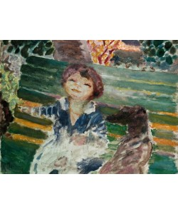 Pierre Bonnard, Kleines Mädchen mit Hund