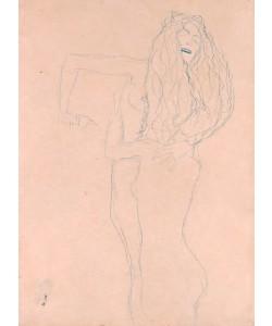 """Gustav Klimt, """"""""Zwei sich umfangende nackte Frauen (""""""""""""""""Ver sacrum"""""""""""""""")"""""""" """""""""""