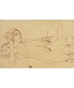 Egon Schiele, Zwei liegende Mädchenakte