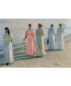 Michael Peter Ancher, Promenade on the Beach