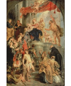 Peter Paul Rubens, Enthroned Madonna with Child, Encircled by Saints, c.1627-28 (oil on canvas)
