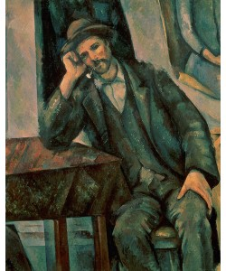 Paul Cézanne, Man Smoking a Pipe, 1890-92 (oil on canvas)