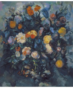 Paul Cézanne, Vase of Flowers, 19th (oil on canvas)