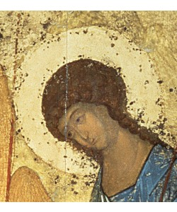 Andrei Rublev, Detail from The Holy Trinity, 1420s (tempera on panel) (detail) (see 39517)