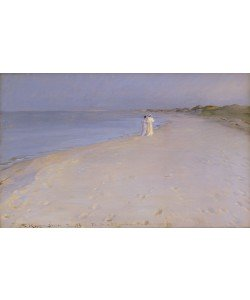 Peder Severin Kroyer, Summer evening at the South Beach, Skagen, 1893 (oil on canvas)