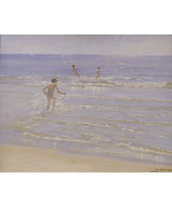 Peder Severin Kroyer, Sunshine at Skagen: Boys Swimming, 1892 (study)