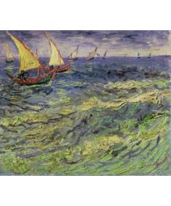 Vincent van Gogh, Seascape at Saintes-Maries (View of Mediterranean) 1888 (oil on canvas)
