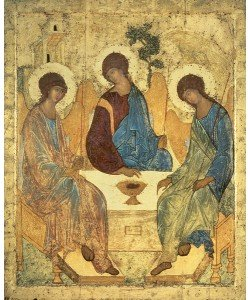 Andrei Rublev, The Holy Trinity, 1420s (tempera on wood) (for copy see 40956)
