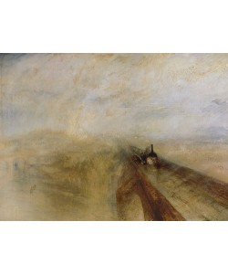 Joseph Mallord William Turner, Rain Steam and Speed, The Great Western Railway, painted before 1844 (oil on canvas)