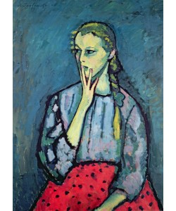 Alexej von Jawlensky, Portrait of a Young Girl (oil on canvas)