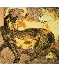 Franz Marc, Two Cats (sketch)