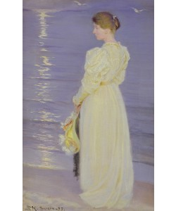 Peder Severin Kroyer, Woman in White on a Beach, 1893