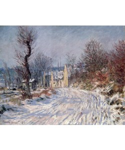 Claude Monet, The Road to Giverny, Winter, 1885