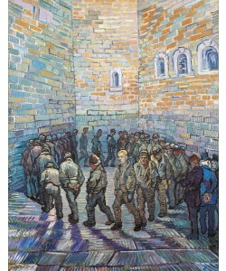 Vincent van Gogh, The Exercise Yard, or The Convict Prison, 1890 (oil on canvas)