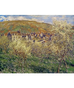 Claude Monet, Plum Trees in Blossom, 1879 (oil on canvas)