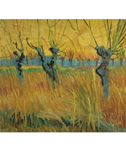 Vincent van Gogh, Pollarded Willows and Setting Sun, 1888 (oil on card)