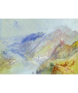 Joseph Mallord William Turner, The Castle of Trausnitz overlooking Landshut, c.1839 (gouache and w/c)