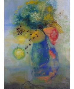 Odilon Redon, Vase of flowers (pastel)