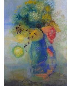 Odilon Redon, Vase of flowers (pastel)