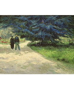 Vincent van Gogh, Public Garden with Couple and Blue Fir Tree: The Poet's Garden III, 1888 (oil on canvas)
