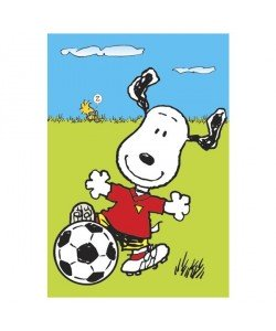 Peanuts, Snoopy, Snoopy mit Fußball