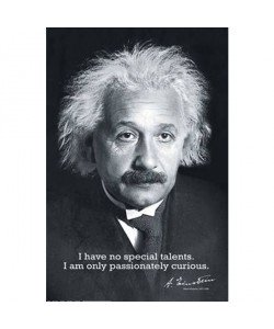Albert Einstein, I Have no Special Talents…..