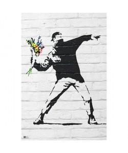 Banksy, Throwing Flowers
