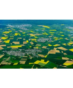 Hady Khandani, GEO ART - RAPE FIELDS AROUND WOELLSTADT - HESSEN - GERMANY