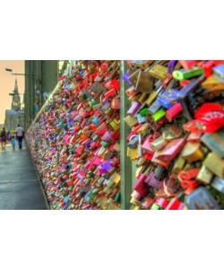 Hady Khandani, HDR - LOVE LOCKS AT HOHENZOLLERNBRIDGE - COLOGNE - GERMANY 1