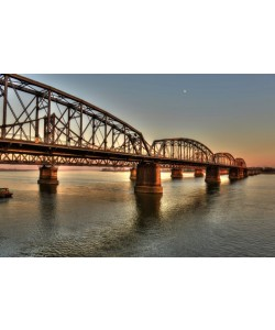 Hady Khandani, HDR - SINO-KOREAN FRIENDSHIP BRIDGE OVER YALU RIVER BETWEEN CHINA AND NORTH KOREA - DANDONG 02